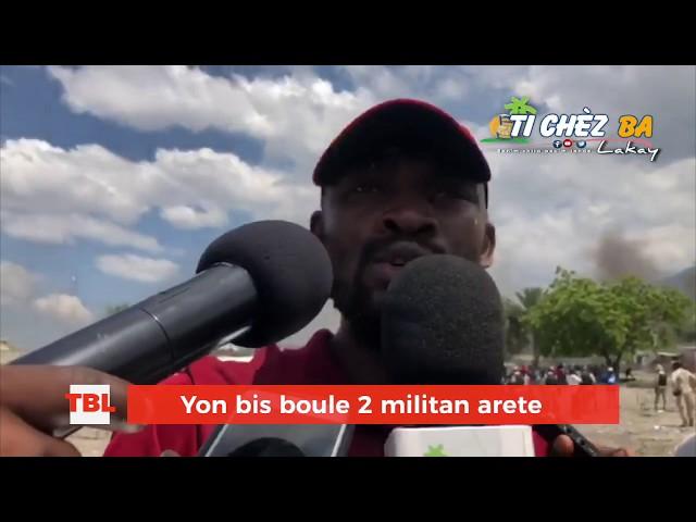 Yon bis boule , 2 militan arete ak plizyè lot blese ak bal kawotchou: Se bilan manif yè a