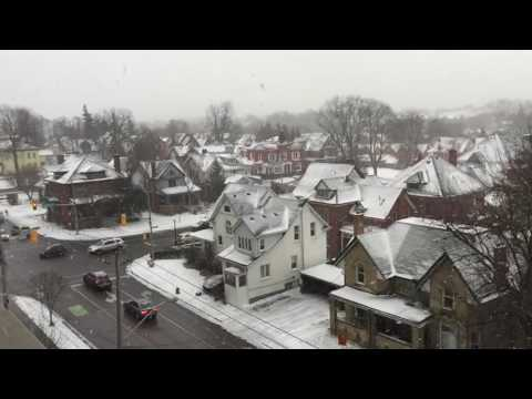 Snow fall in Kitchener, Ontario, Canada @ 9th December 2016