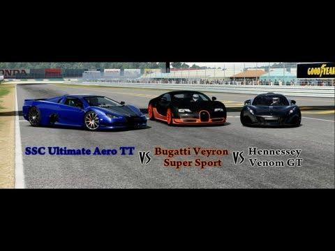 Forza Motorsport 4 Battle – S1.E20: Ultimate Aero Vs Bugatti SS Vs Hennessey Venom GT
