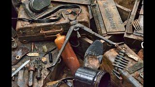 Немецкий блиндаж выстрелил находками A Lot Of Relics From The German Dugout