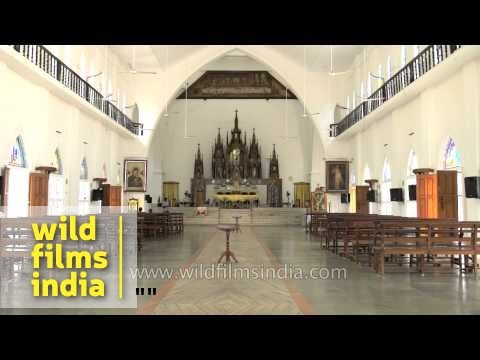 Inside view of Mount Carmel Cathedral, Alappuzha
