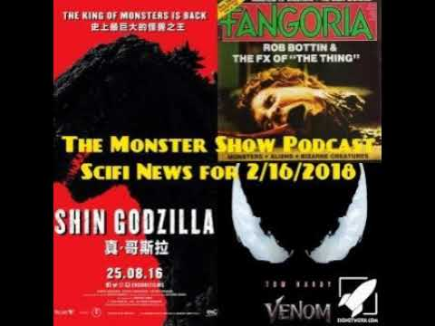 The Monster Scifi Show Podcast - Scifi News for 2/16/2018