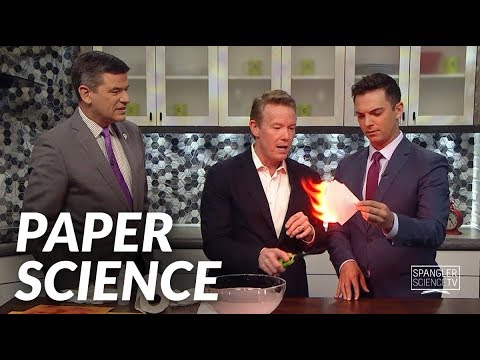 Paper Science with Steve Spangler on 9News