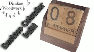Make A Desktop Calendar With Free PDF Plans
