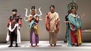 布をまとって仏に変身 仏像衣装のファッションショー