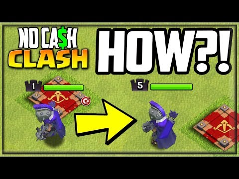 FIVE Archer Queen Levels! Clash Of Clans NO Cash Clash #53