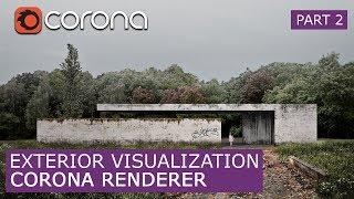 Exterior Corona Render 1.6 & Photoshop   Matte painting - Architectural Visualization