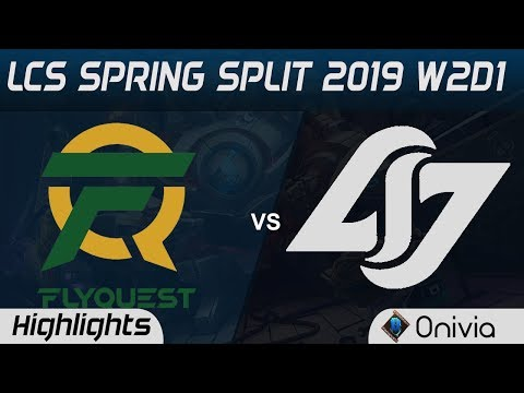 FLY vs CLG Highlights LCS Spring Split 2019 W2D1 Flyquest vs Counter Logic Gaming by Onivia