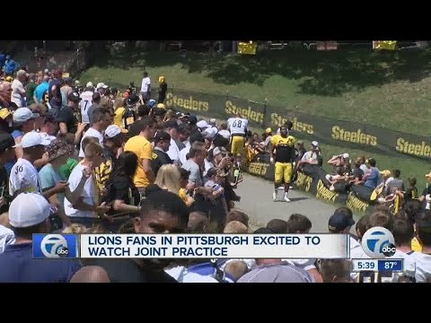 Lions fan in Pittsburgh excited to watch joint practice