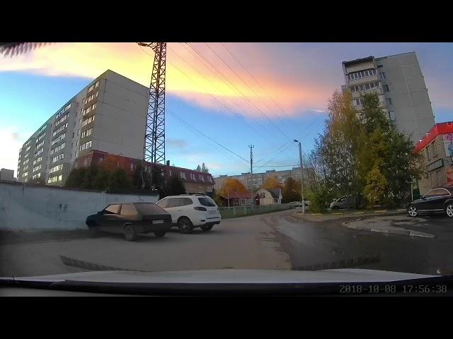 Запись на видеорегистратор Сяоми в разное время суток. YI Dashcam