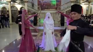 Красивый национальный обряд -Снятие платков с невесты.  Балкарская свадьба Баш ау алгъан.