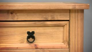 Corona Mexican Pine 1 Drawer Bedside Table - Pine Solutions