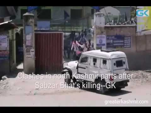 Clashes in north Kashmir parts after Sabzar Bhat's killing