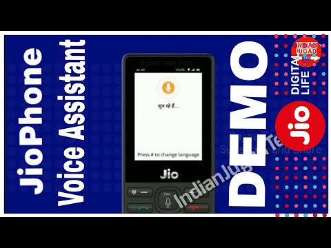 Jio Phone VOICE ASSISTANT feature Demonstration   Jio Phone Review