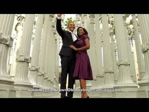 Obama Gangnam Style! Reggie Brown The World's Best Obama Impersonator