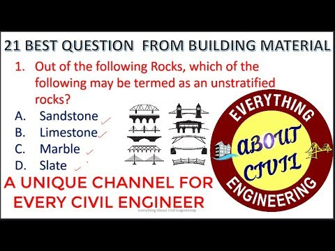 21 Best Objective Question From Building Material for SSC-JE 2017/18 With Detailed Explanation