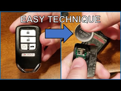 How to replace Honda SMART key fob battery - Works for all Honda models