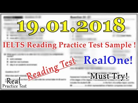 IELTS READING PRACTICE TEST 2018 WITH ANSWERS || 19 01 2018