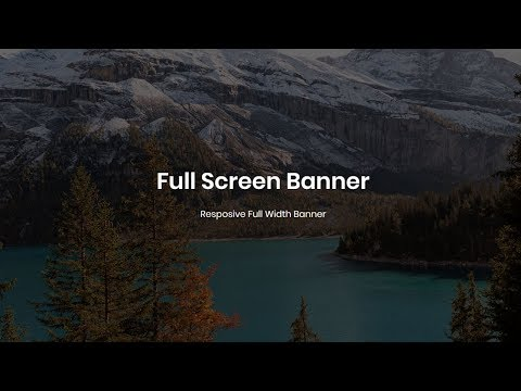 How to Make Full Screen Header/Banner using css