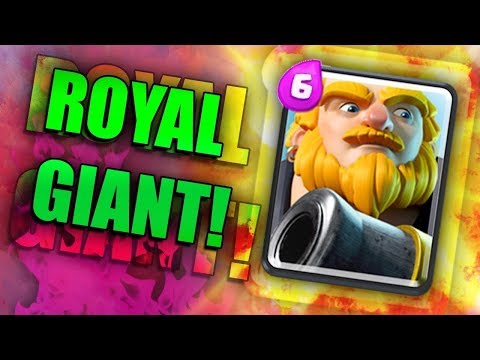 THIS ROYAL GIANT DECK IS SO GOOD Clash Royale #1