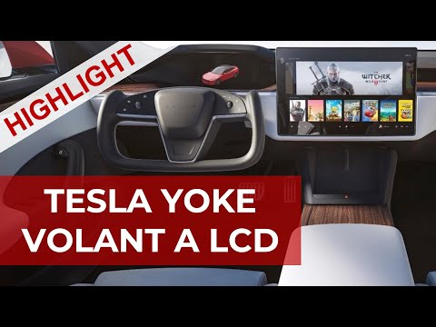 Tesla yoke volant a LCD