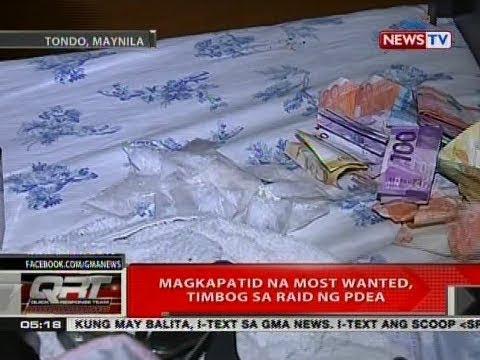 QRT: Magkapatid na kabilang sa most wanted list ng PDEA dahil sa droga, arestado sa Maynila