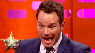 Repeat youtube video The Chris Pratt Epic Card Trick Fail - The Graham Norton Show