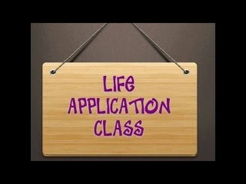 Life Application Class with Min. Maria Hadley