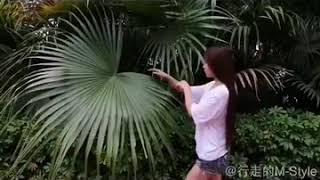 liziqi李子柒早年的视频,树叶编篮子教程。