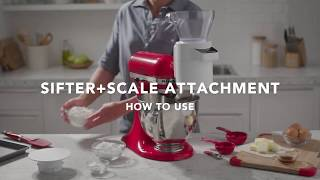 How to Use the Sifter + Scale Attachment | KitchenAid® Sifter + Scale Attachment
