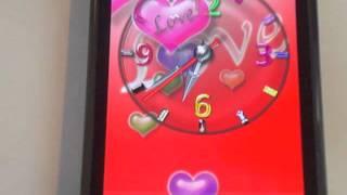 Cool Love Clock Wallpaper screenshot 4