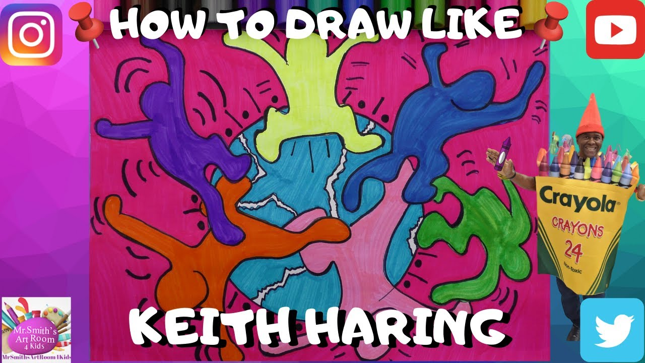 Keith Haring - Coloring for kids | 720x1280