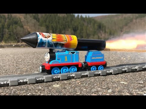 Rocket powered Thomas and Friends Toy Train !!