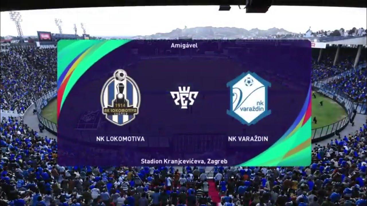Nk Lokomotiva Zagreb Vs Nk Varazdin Pes Prva Liga Live Gameplay Youtube