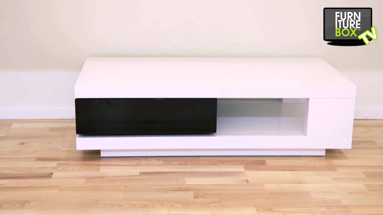 QUEBEC Soffbord Vit/Svart Furniturebox