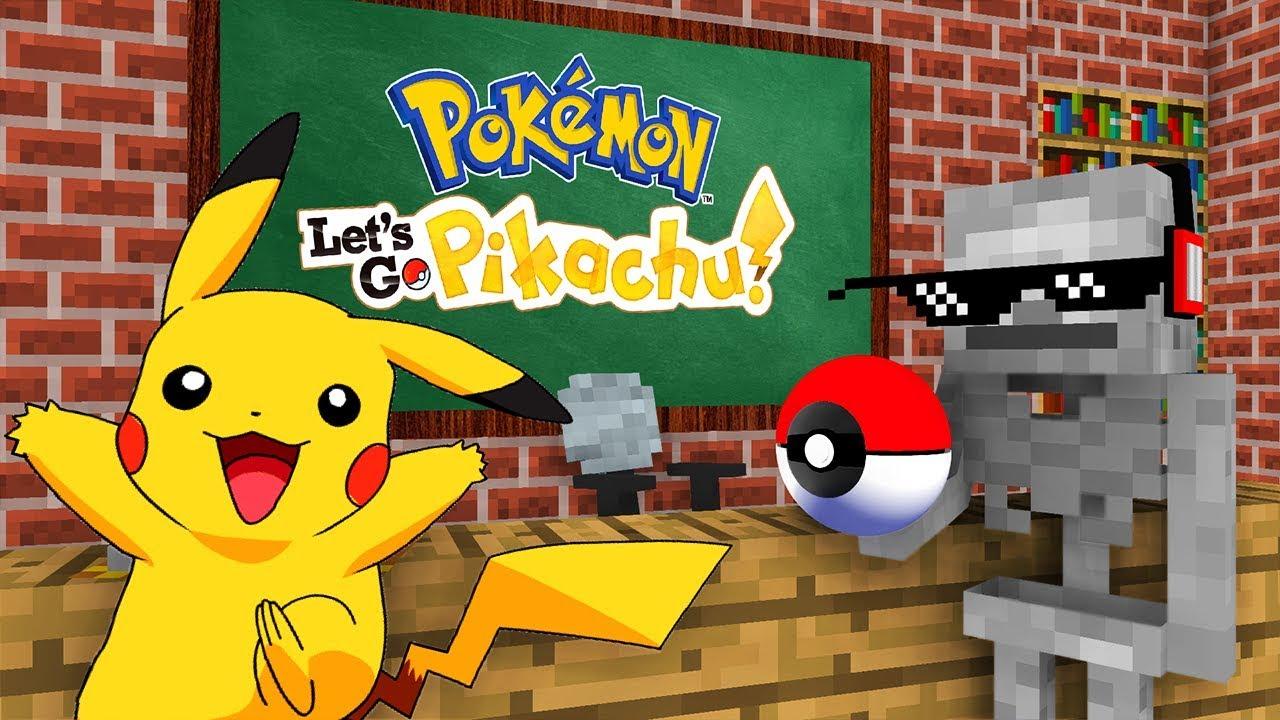 Monster School : POKEMON LETS GO PIKACHU GAME CHALLENGE - Minecraft Animation