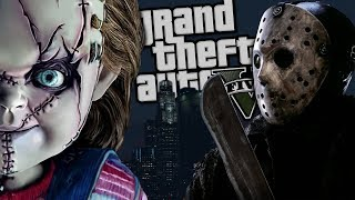 "Childs Play ""Chucky"" VS Jason Voorhees MOD (GTA 5 PC Mods Gameplay)"