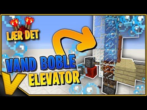 Dansk Minecraft  LÆR DET: 1x1 VAND BOBLE ELEVATOR  m Redstone Signal Forlænger