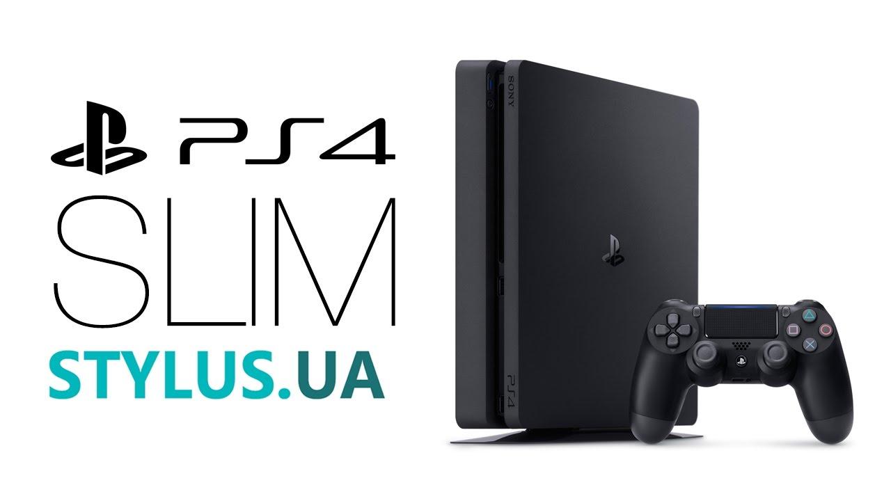 Sony playstation 4 slim видео