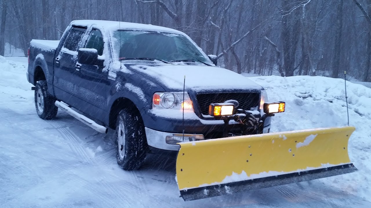F 150 Snow Plow >> 04 F150 Fisher Homesteader Snow Plow 2015 Blizzard - YouTube
