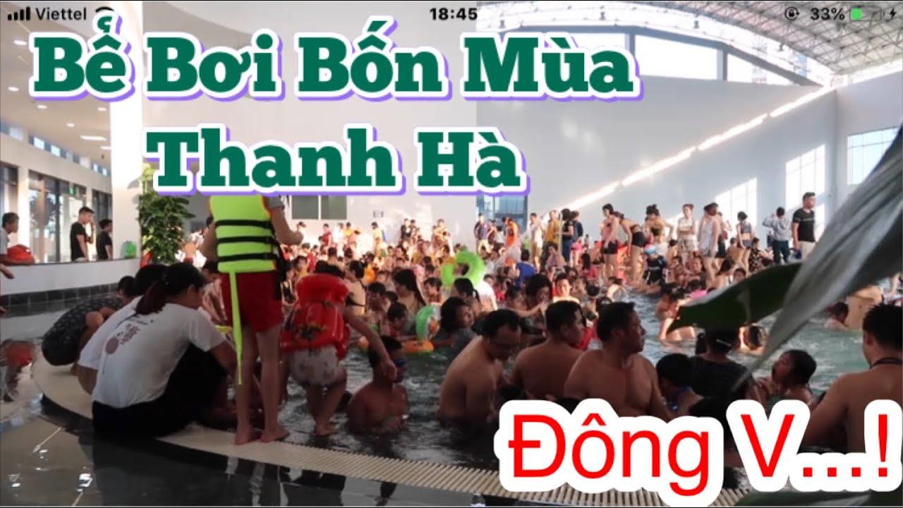 Video 4k   Bể bơi bốn mùa Thanh Hà   Kđt Thanh Hà   Swimming pool four seasons Thanh Ha   BĐS Hà Nội