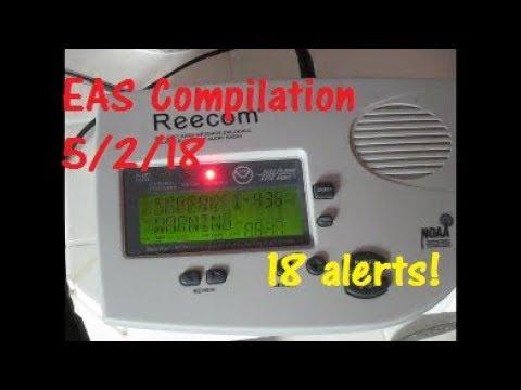 5/2/18 EAS Compilation - 18 Alerts! (EAS #1,103 - 1,120)