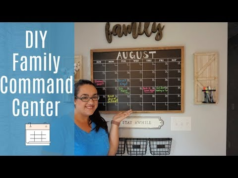 DIY  Family Command Center || Home Organization