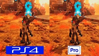 Ratchet & Clank | PS4 VS PS4 PRO | GRAPHICS COMPARISON | Comparativa grafica