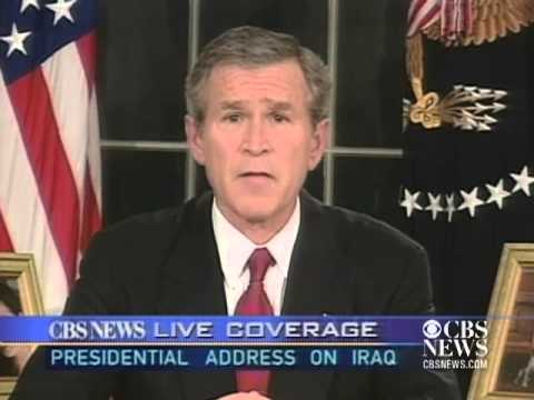 2003 President Bush Announces Invasion Of Iraq Cbs News