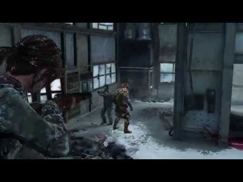 The Last Of Us - Ellie & David Second Infected Fight + Bloater GROUNDED