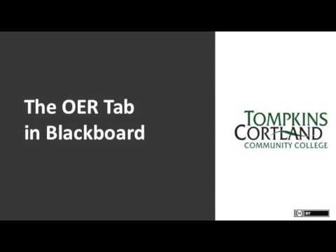 OER Course Tab at Tompkins Cortland Community College