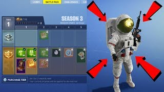 *NEW* Battle Pass Season 3 Astronaut Teaser Trailer Gameplay!! Fortnite Battle Royale