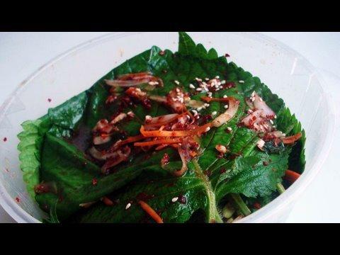 Perilla leaf kimchi and perilla leaf pickles (깻잎)