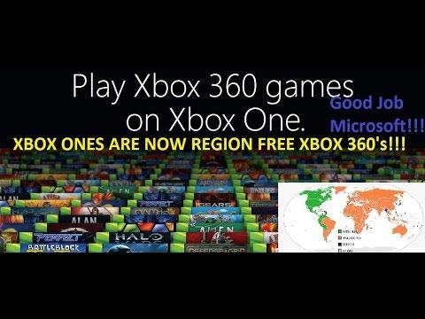 Xbox One is now a REGION FREE XBOX 360!!!
